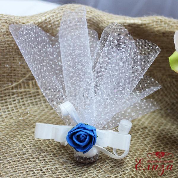 Сватбени късмети с розичка в тъмно синьо N2